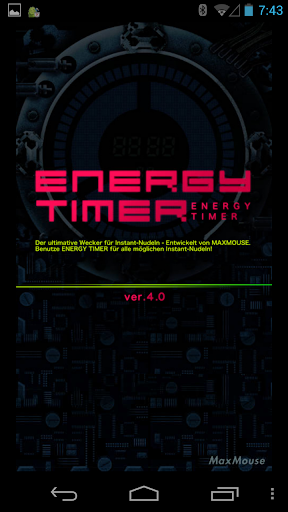 Energy Timer German English
