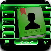 Green Neon Theme GO CONTACTS