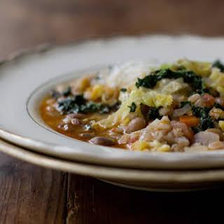 Simple Farro & Bean Stew.