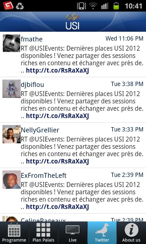 USI 2012 - screenshot