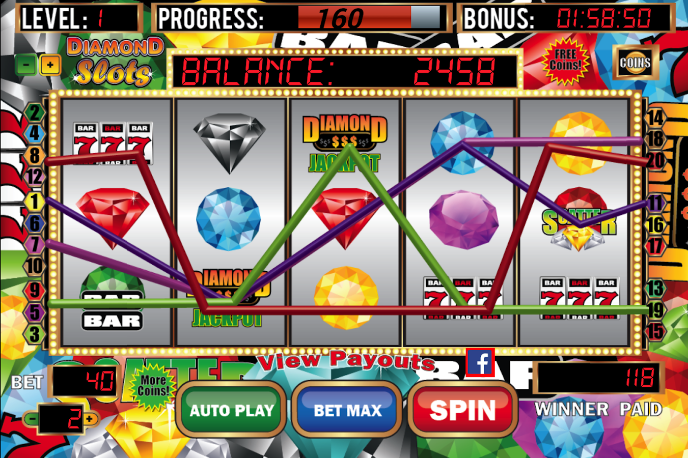 Diamond Slots Slot Machine- screenshot