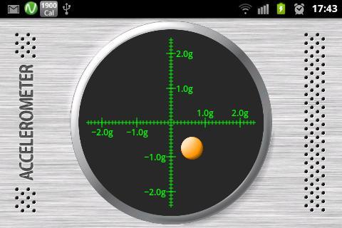 Accelerometer Sensor - screenshot