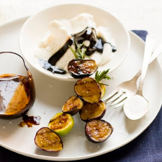 "Grilled Fig Sundaes with Balsamic ""Fudge"""