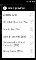 Screenshot of Canadian Sales Tax (Lite)