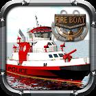Barco de bomberos Simulador 3D icon