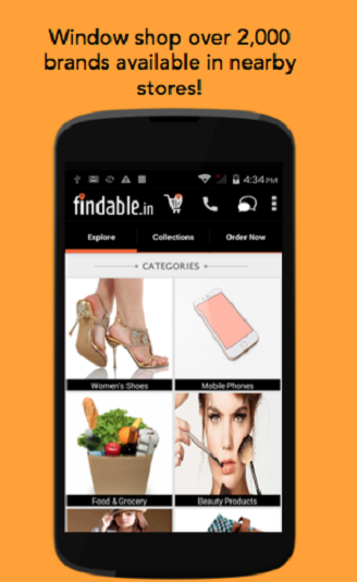 Findable: Home Delivery App- screenshot