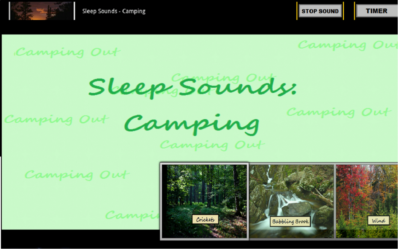 Sleep Sounds: Camping - screenshot