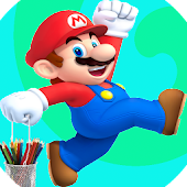 Drawing Step by Step Mario