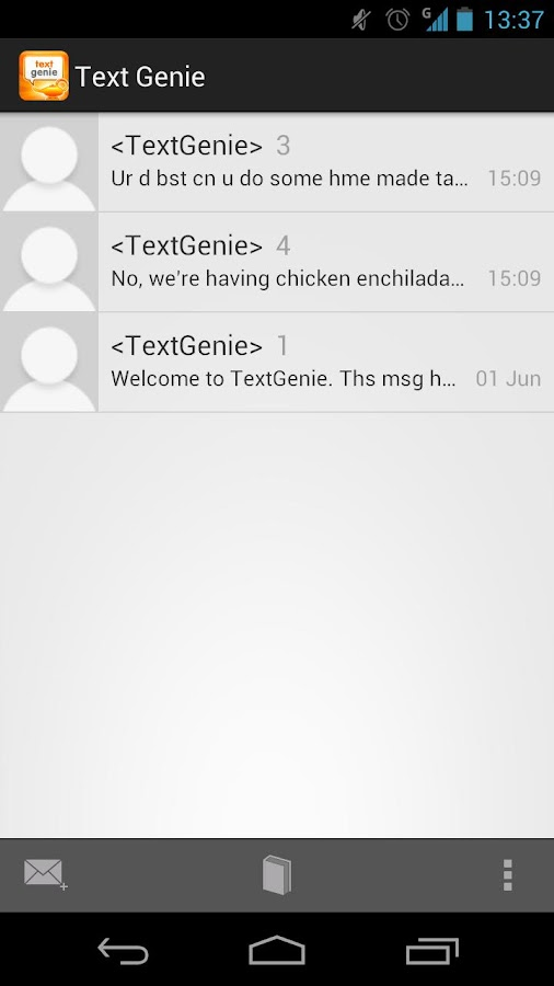 TextGenie - screenshot