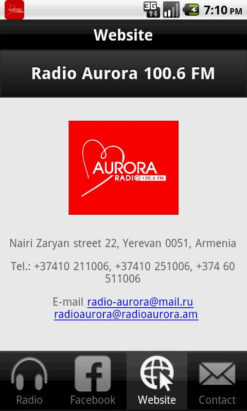 Radio Aurora 100.7 FM - screenshot
