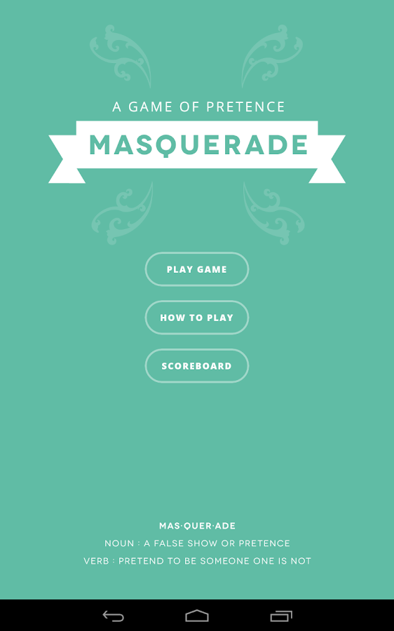 Masquerade - screenshot