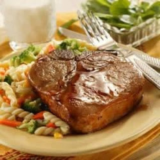 Honey-Glazed Pork Chops.