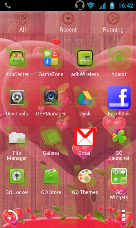 GO Launcher EX Fabulous Hearts - screenshot