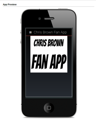 Chris Brown Fan App