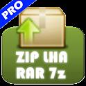 解凍ツールPro(ZIP/LHA/RAR/7z)機能追加版 logo