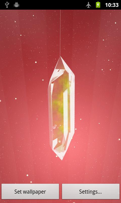 Lucky Crystal Live Wallpaper- screenshot