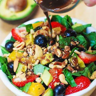 Strawberry Spinach Salad.