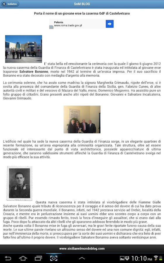 Sicilia nel Mondo BLOG - screenshot