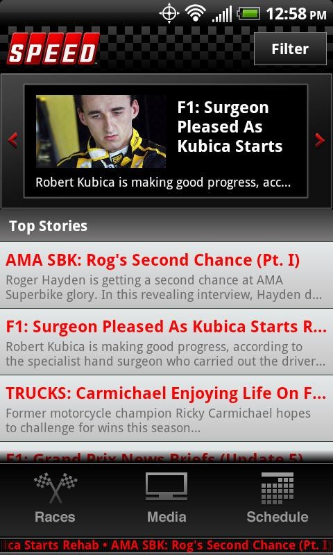 The Official SPEED Channel App - screenshot