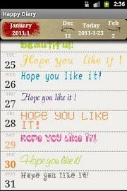 Happy Diary Screenshot 1