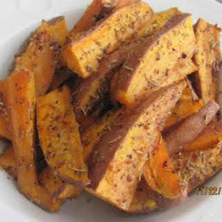 Rosemary Roasted Sweet Potato Wedges