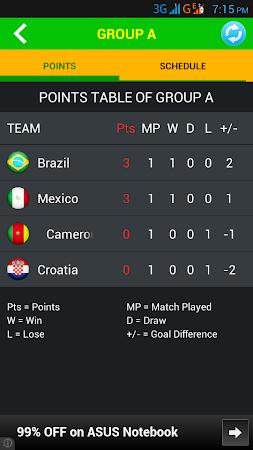 Football World Cup Live Score 1.6 screenshot 58197