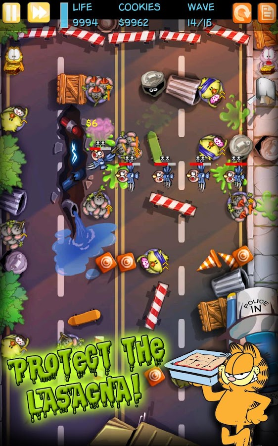 Garfield Zombie Defense - screenshot