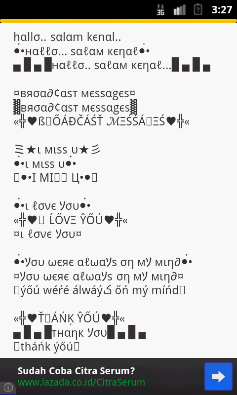 Auto Text Emoticon (BBM WA FB) - screenshot