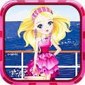 Adorable pink princess dressup