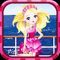 Adorable pink princess dressup icon