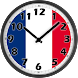 France Flag Analog Clock