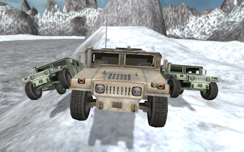 Army 4x4 Snow Driving 3D- screenshot thumbnail