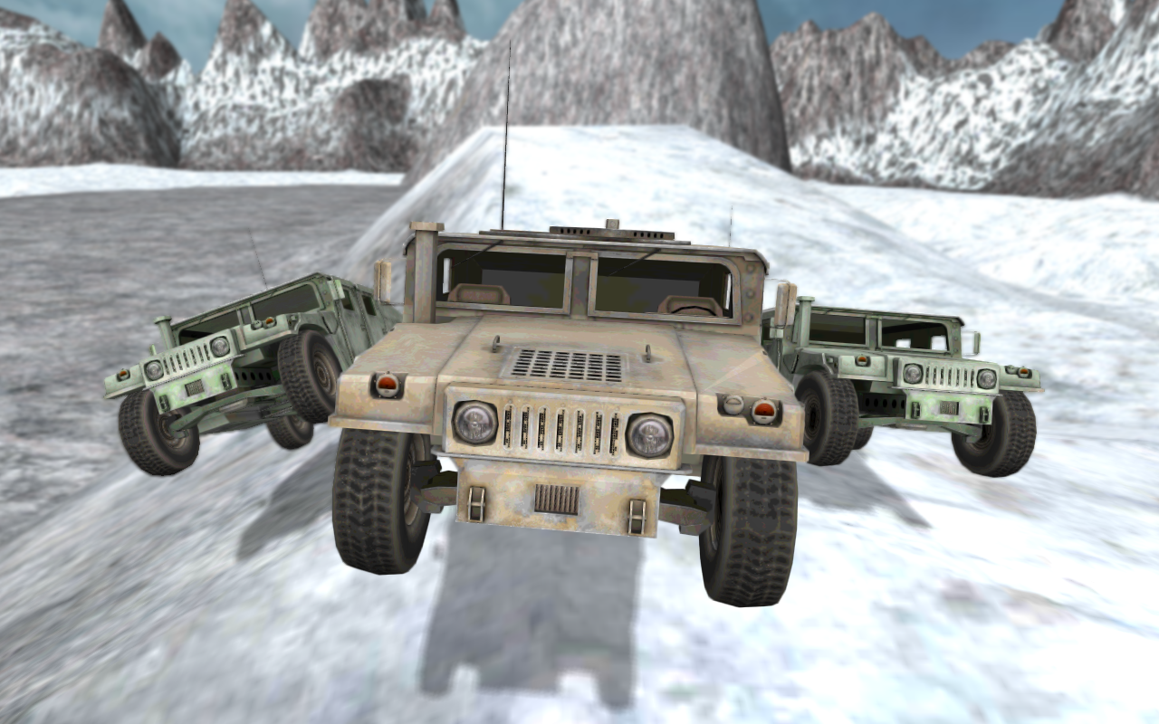 Army 4x4 Snow Driving 3D- screenshot