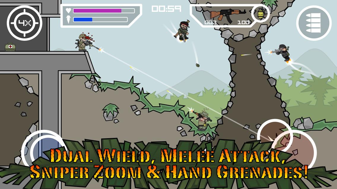 Doodle Army 2 : Mini Militia- tangkapan layar