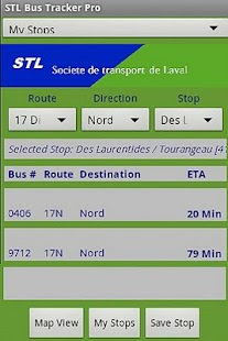 Laval STL Bus Tracker Pro - screenshot thumbnail