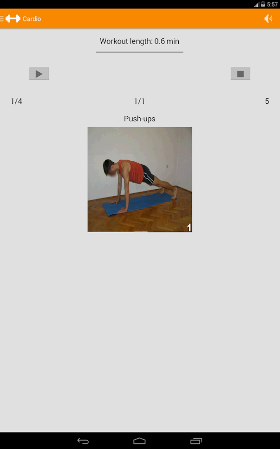 Cardio Fitness Workout - screenshot