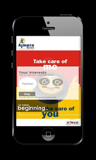 Ajmera Tyres mLoyal App
