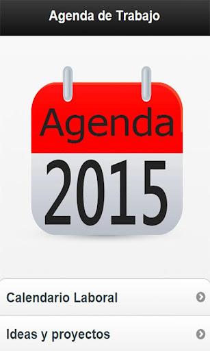 Calendario Trabajo Agenda 2015