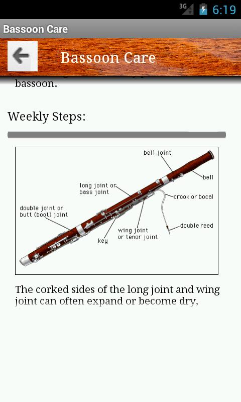 The Bassoon App - screenshot