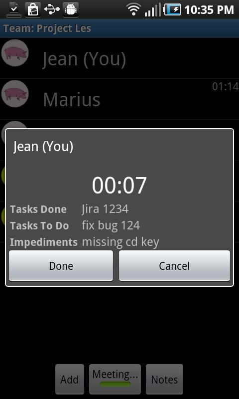 Scrum Timer- screenshot