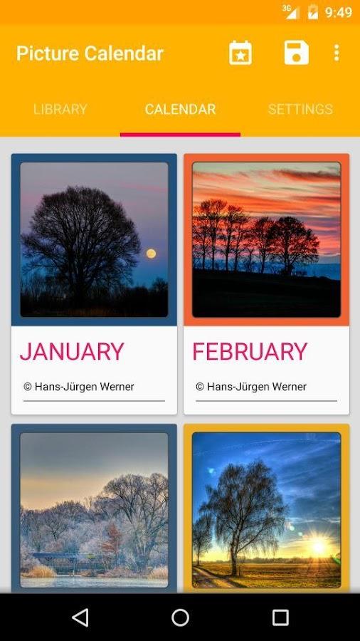 Picture Calendar 2014 / 2015 - screenshot