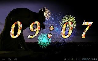 Screenshot of 2015 Fireworks Countdown LWP