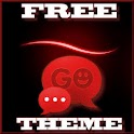 GO SMS Theme Simple Red APK