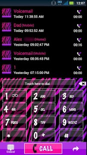GO Contacts Girly Zebra Theme - screenshot thumbnail