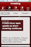 Screenshot of Investing