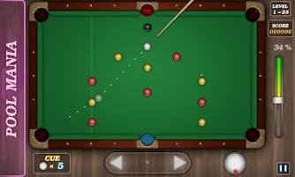 Screenshot of Pool Mania