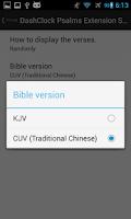 Screenshot of DashClock Bible Psalms