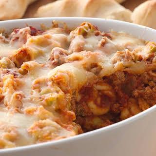Cheesy Baked Tortellini.