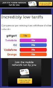 GiffGaff FREE unlimited SIMS - screenshot thumbnail