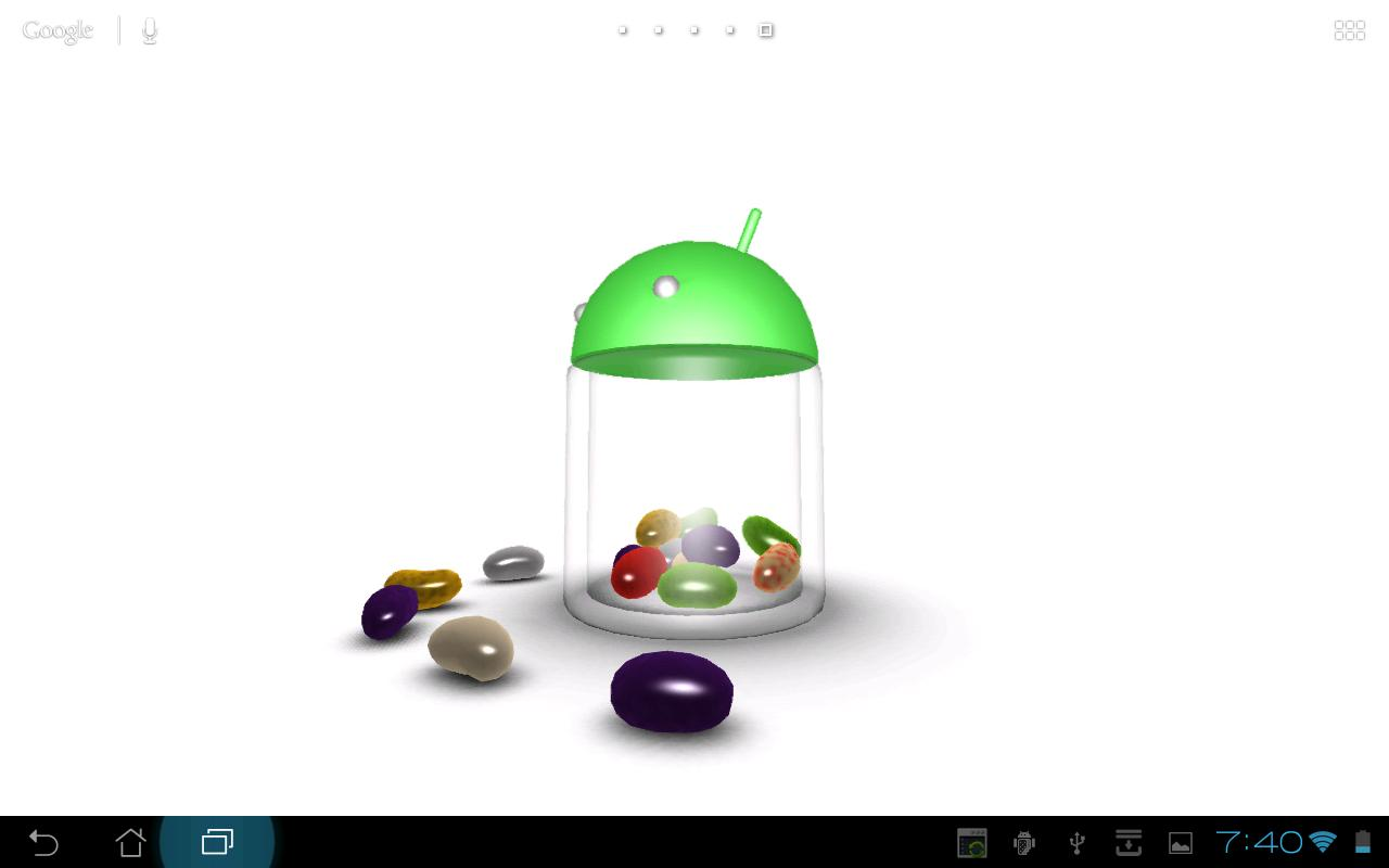 3D Jelly Bean Live Wallpaper - screenshot